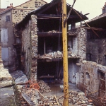 la maison Champollion en cours de restauration, 1983
